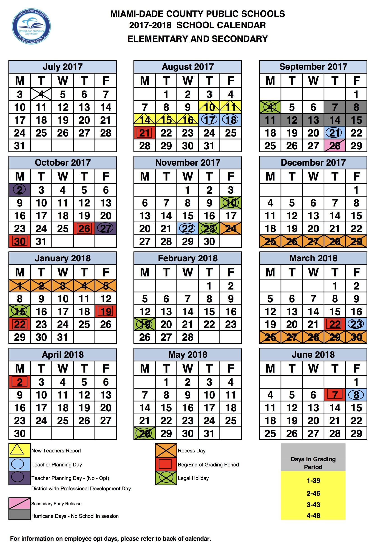 Broward County School Calendar 2017 2017 – 2018 Calendar – Draw.alimy_School Calendar For Broward County