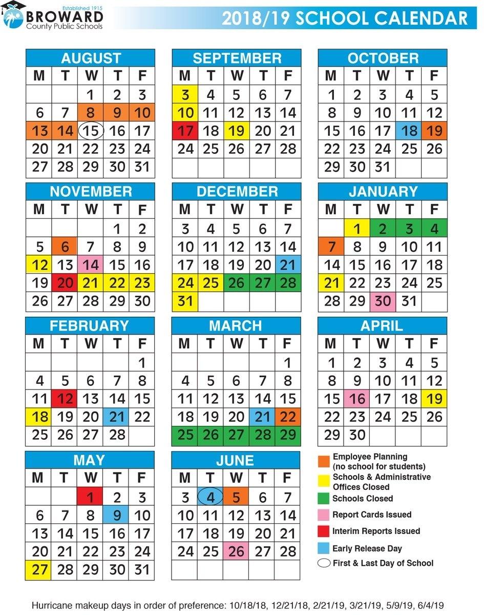Broward County School Schedule | Examples And Forms_Calendar School 2020 Broward