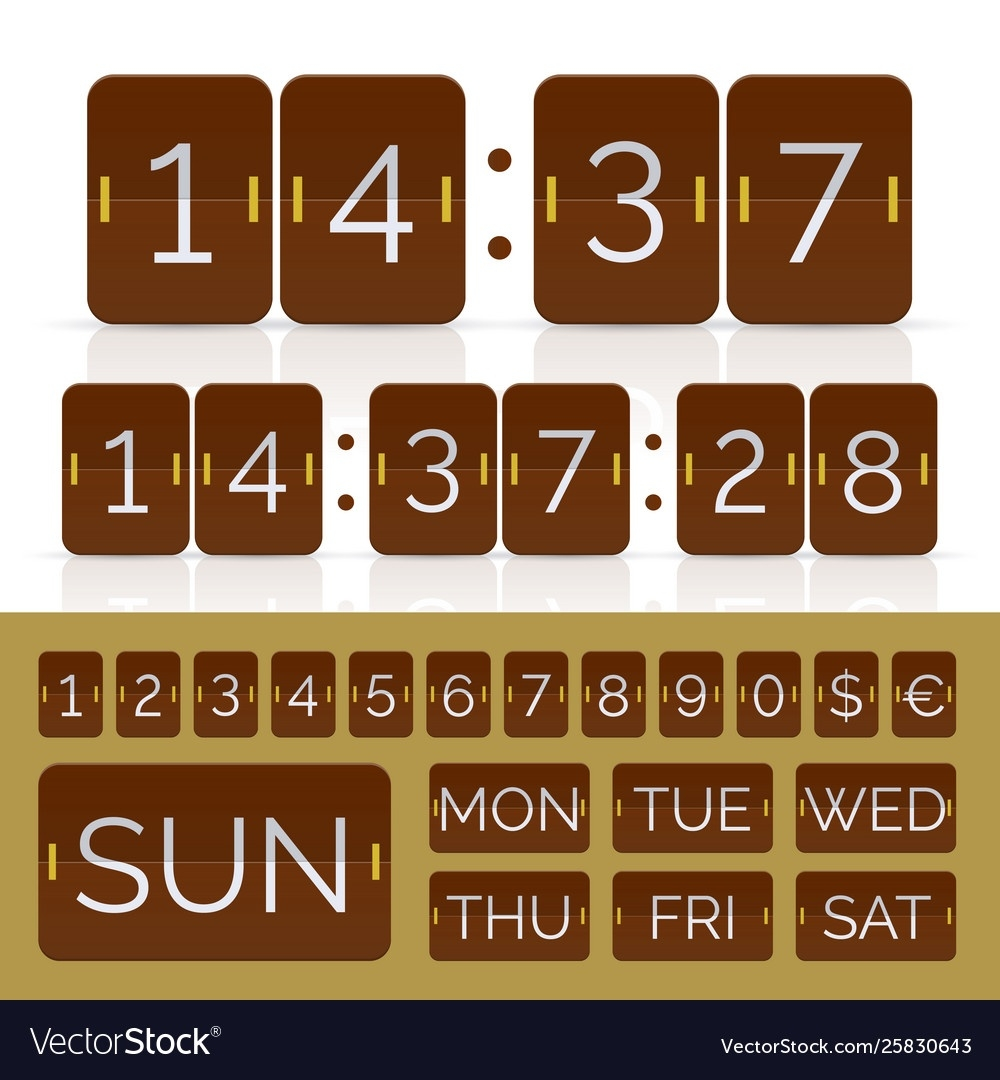 Brown Countdown Timer And Week Day Flip Calendar_Countdown Calendar In Weeks