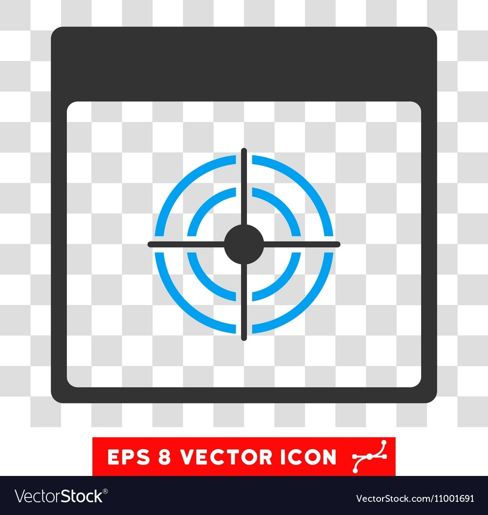 Bullseye Calendar Page Eps Icon Vector Image On Vectorstock_Calendar Page Icon Vector