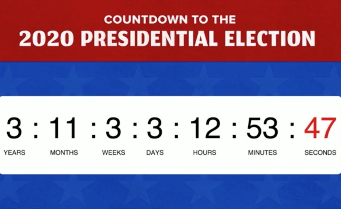 Buzzfeed's Latest Viral Live Stream For Facebook Is A 2020 Election_Countdown Calendar On Facebook