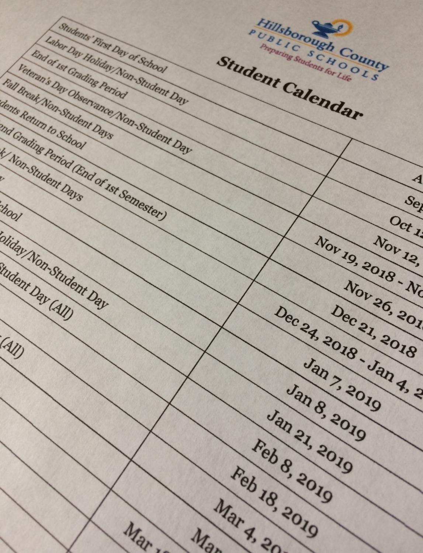 Calendar 10 Hillsborough County School Calendar 2018 | Nicegalleries_Calendar School Hillsborough County