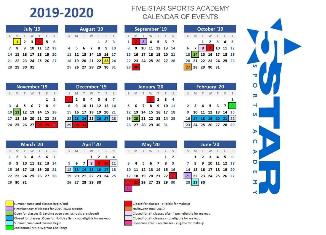 Calendar - 5 Star Sports Academy_G Star School Calendar