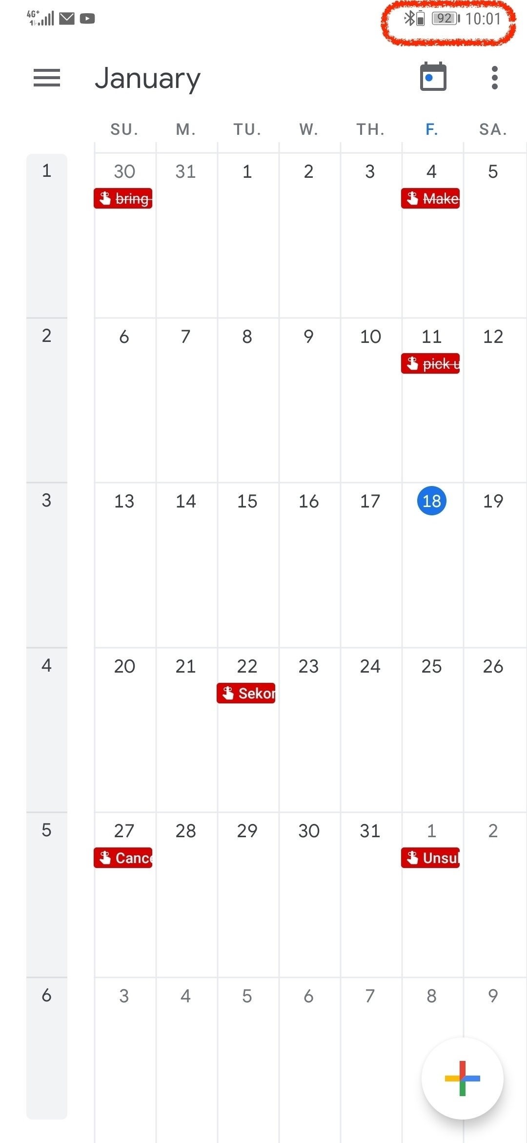 Calendar Account Gone Missing Intermittently. | Official Huawei_Google Calendar Gone Blank