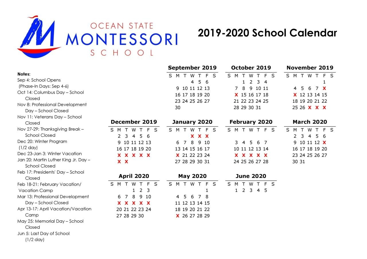 Calendar And Events_School Calendar Rhode Island