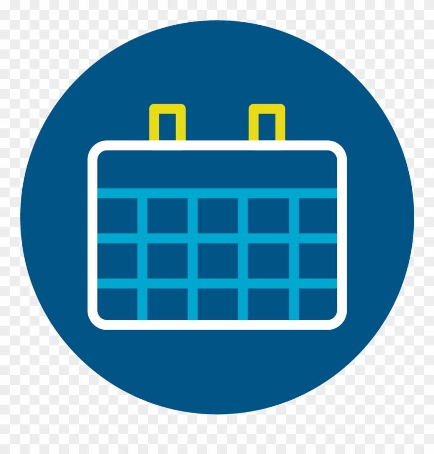 Calendar - Calendar Icon Circle Png Blue Clipart (#1463708) - Pinclipart_Calendar Icon Png Blue