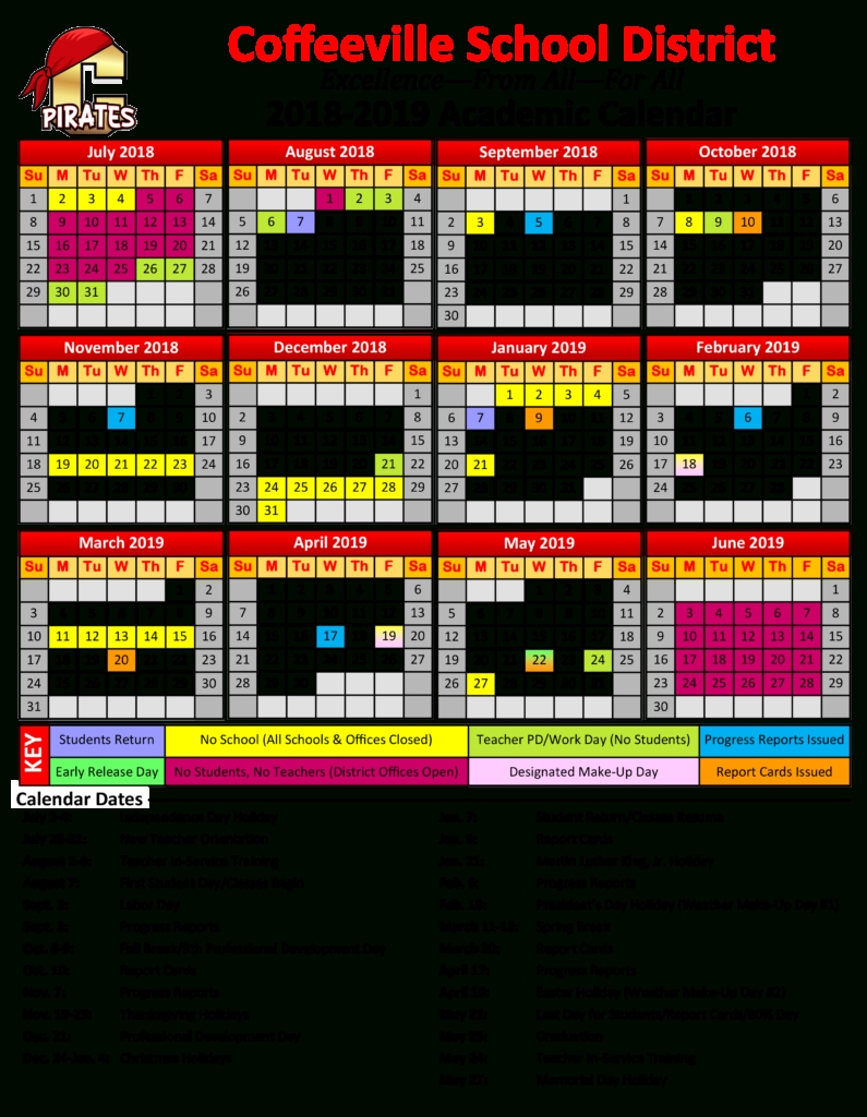 Calendar – Coffeeville School District_Calendar School District 96