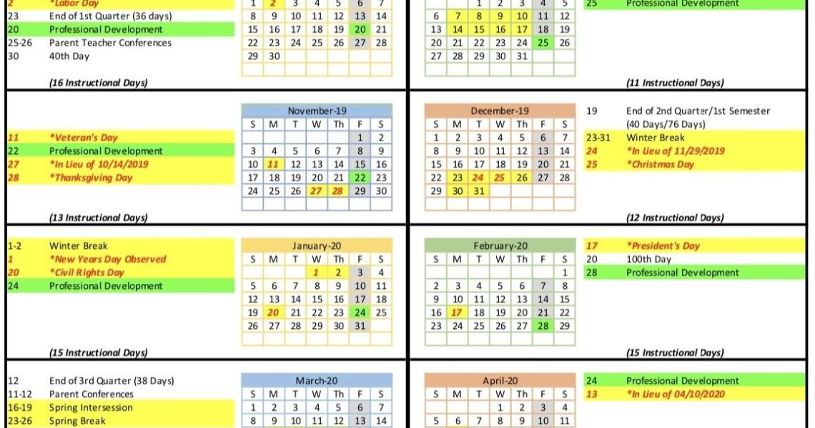 Calendar - Coolidge Unified School District_Year Round Calendar Jordan School District