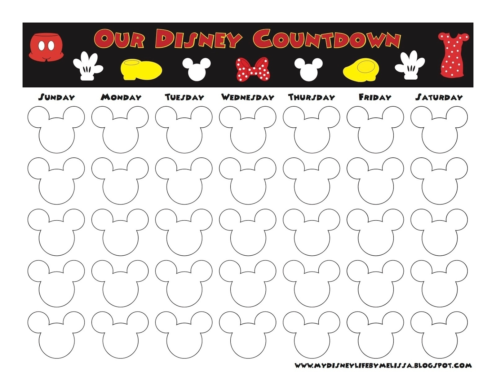 Calendar Countdown Free Download • Printable Blank Calendar Template_Calendar Countdown Free Download