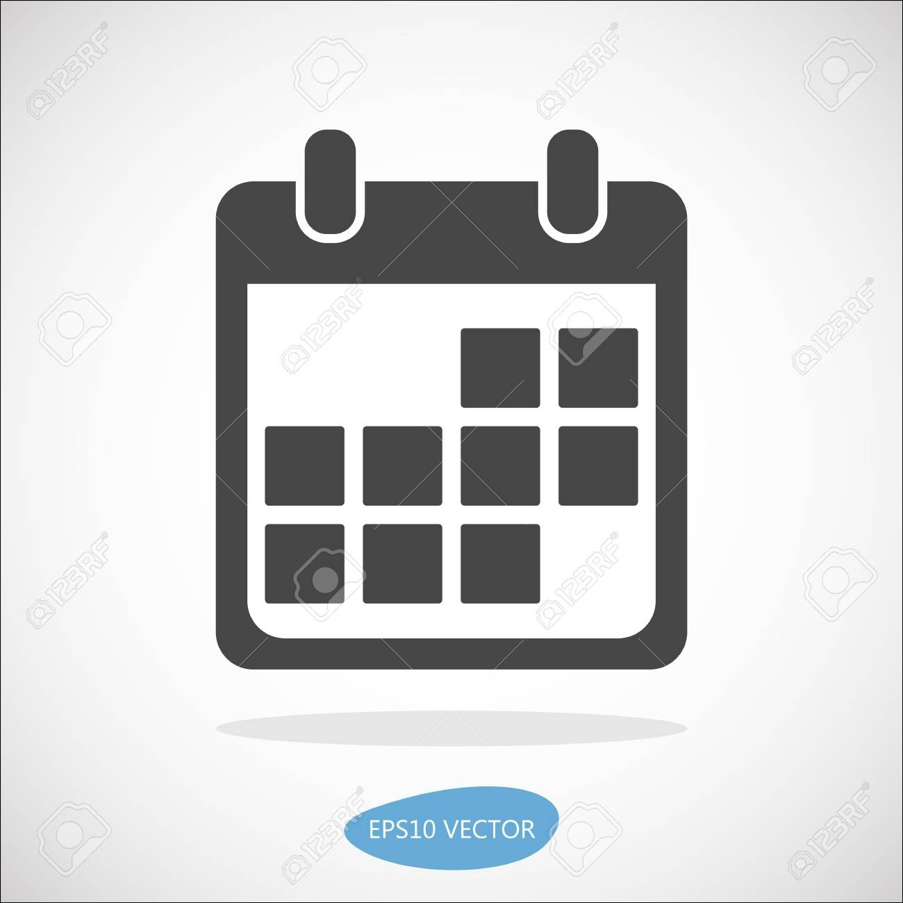 Calendar Event Icon, Vector Illustration. Simplyfied Flat Material.._Calendar Icon Material Design