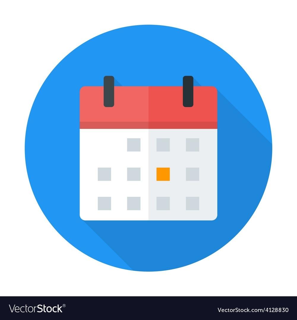 Calendar Flat Circle Icon_Google Calendar Icon Round