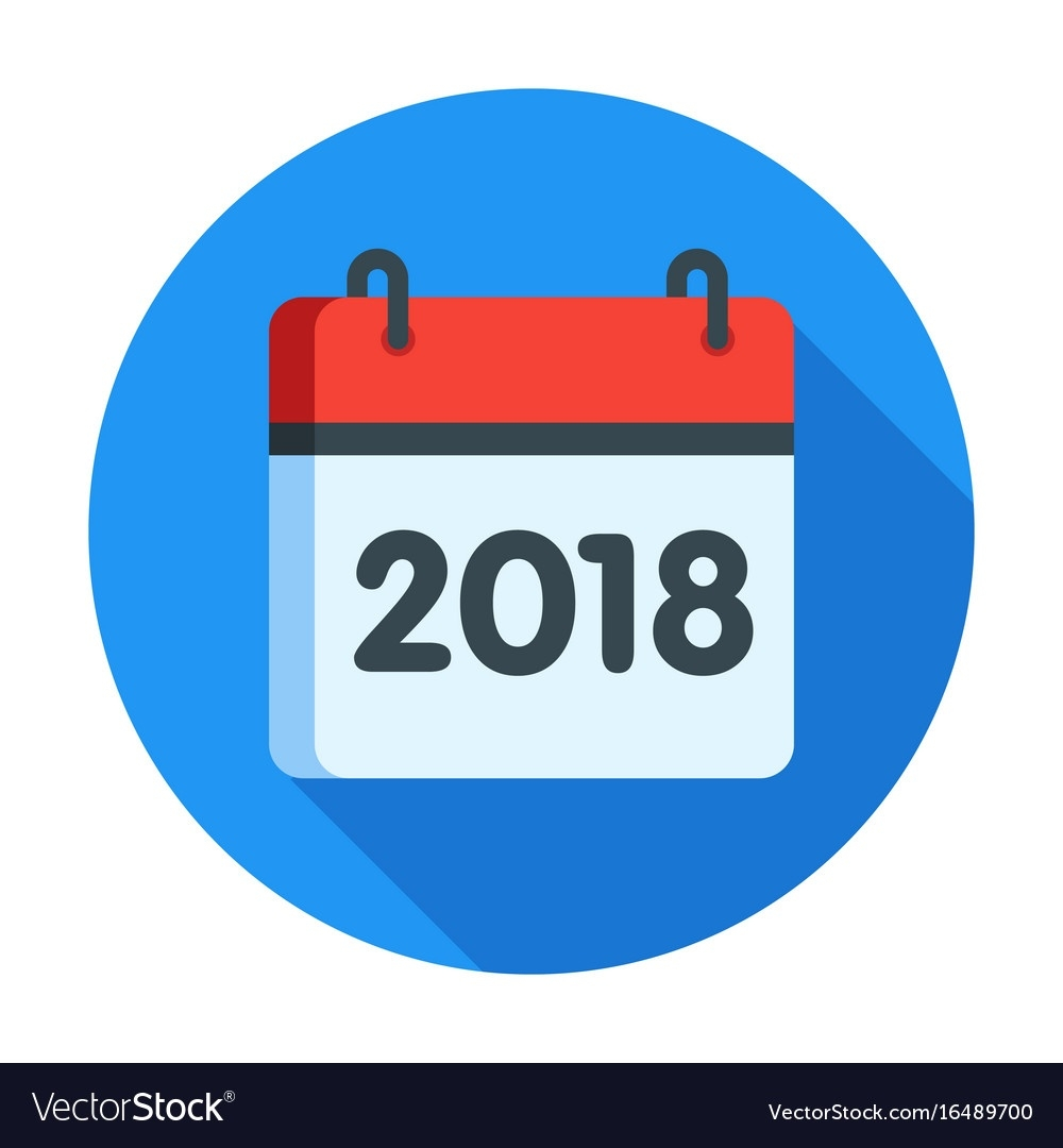 Calendar For 2018 Year Icon_Calendar Icon With Year