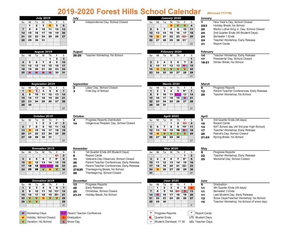 Calendar - Forest Hills School_Msad 6 School Calendar