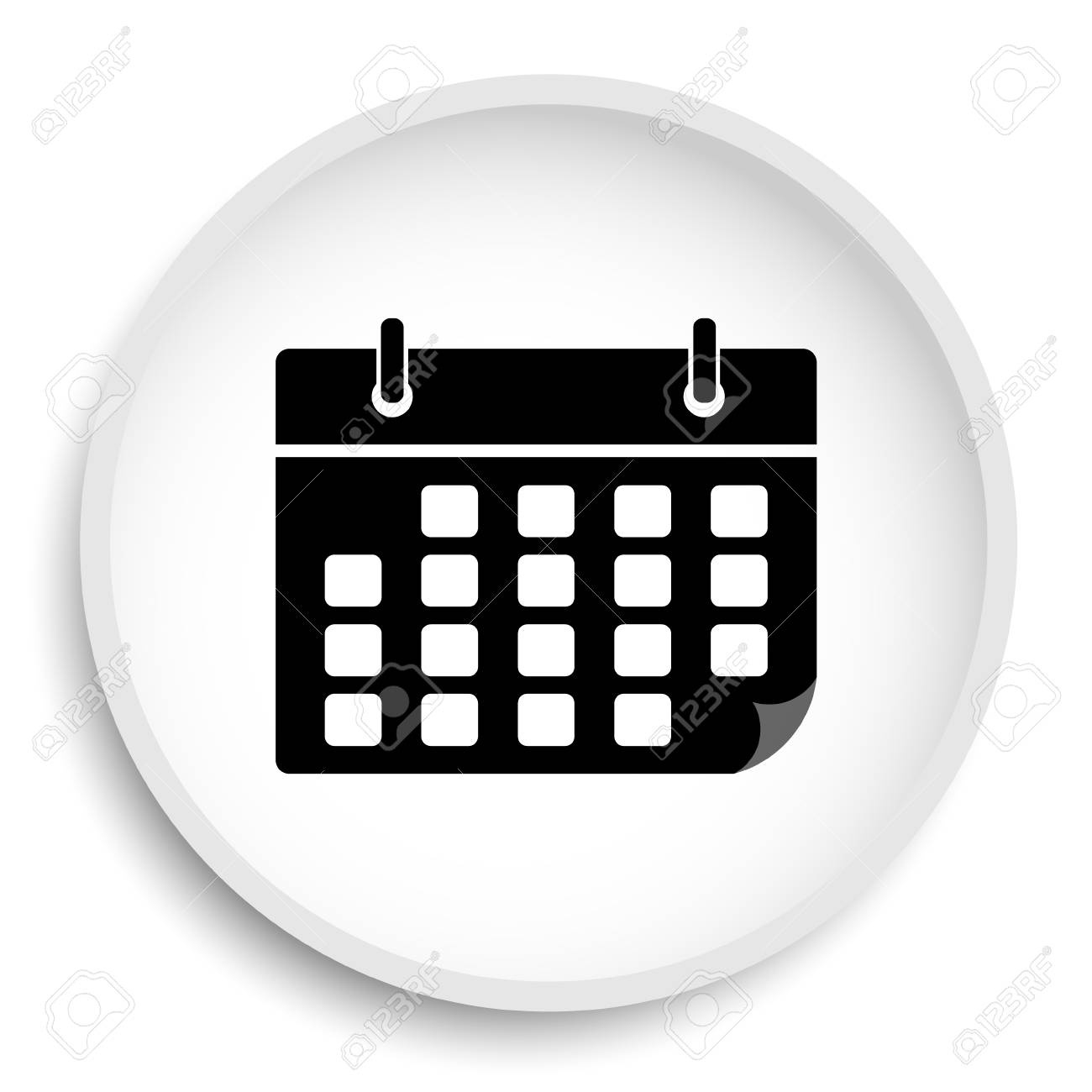 Calendar Icon. Calendar Website Button On White Background._Calendar Icon For Website