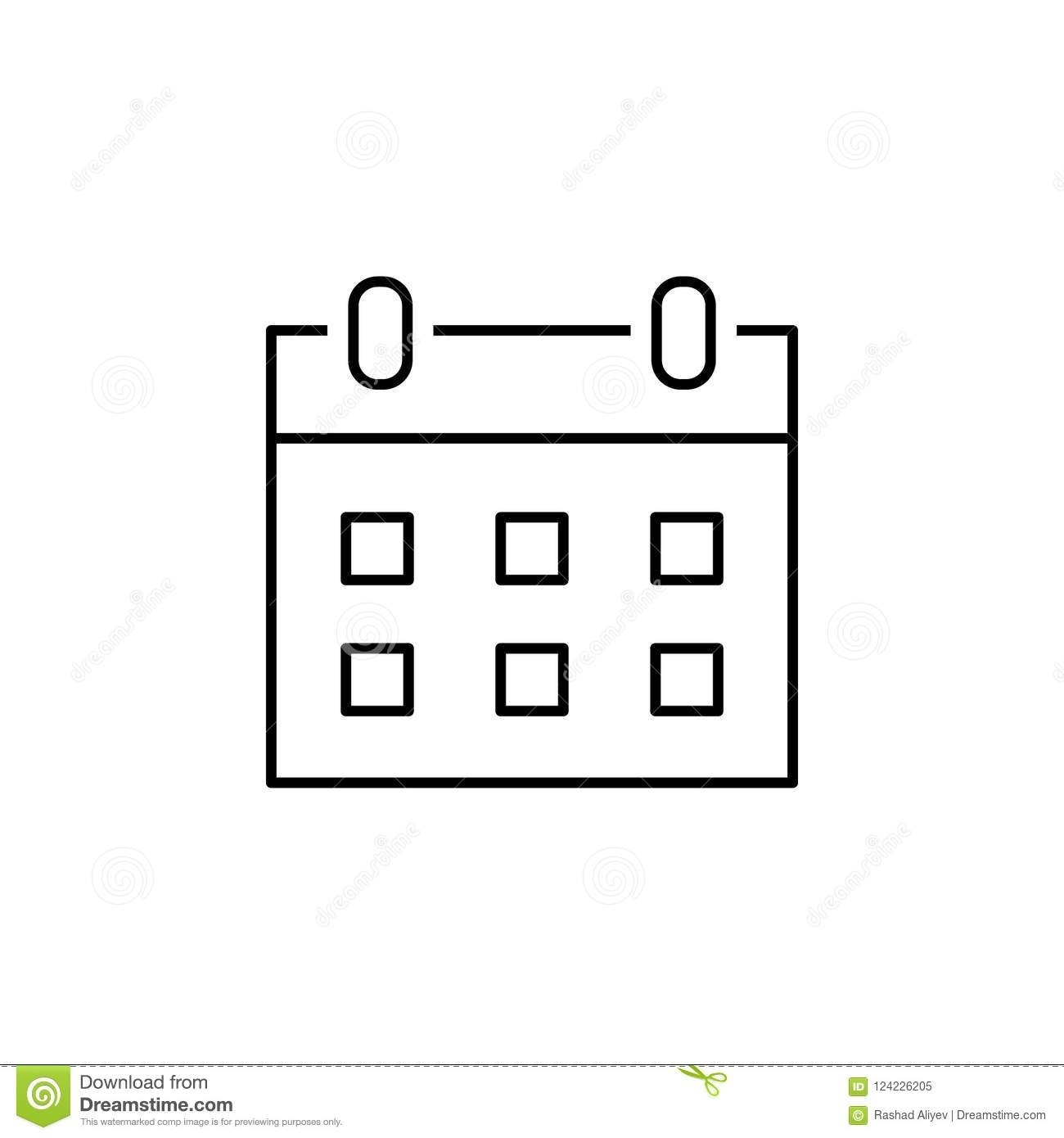 Calendar Icon. Element Of Simple Icon In Material Style For Mobile_Calendar Icon Material Design