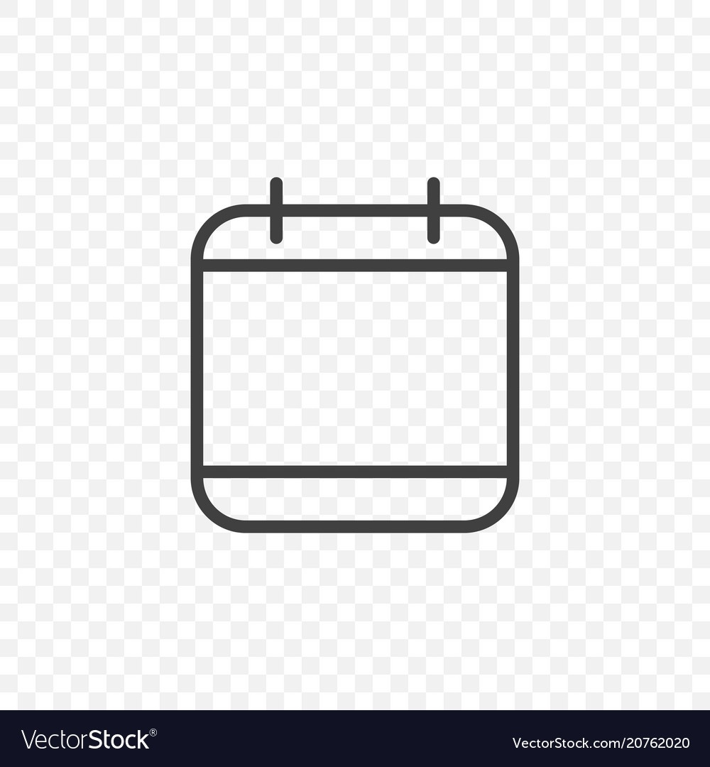 Calendar Icon On A Transparent Background Easy_Calendar Icon Transparent Background