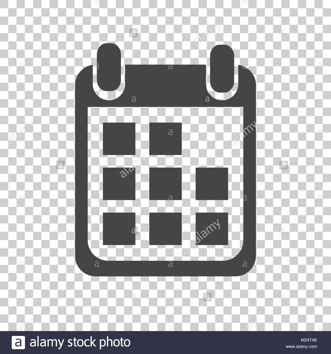 Calendar Icon On Isolated Background, Vector Illustration. Flat_Calendar Icon For Website