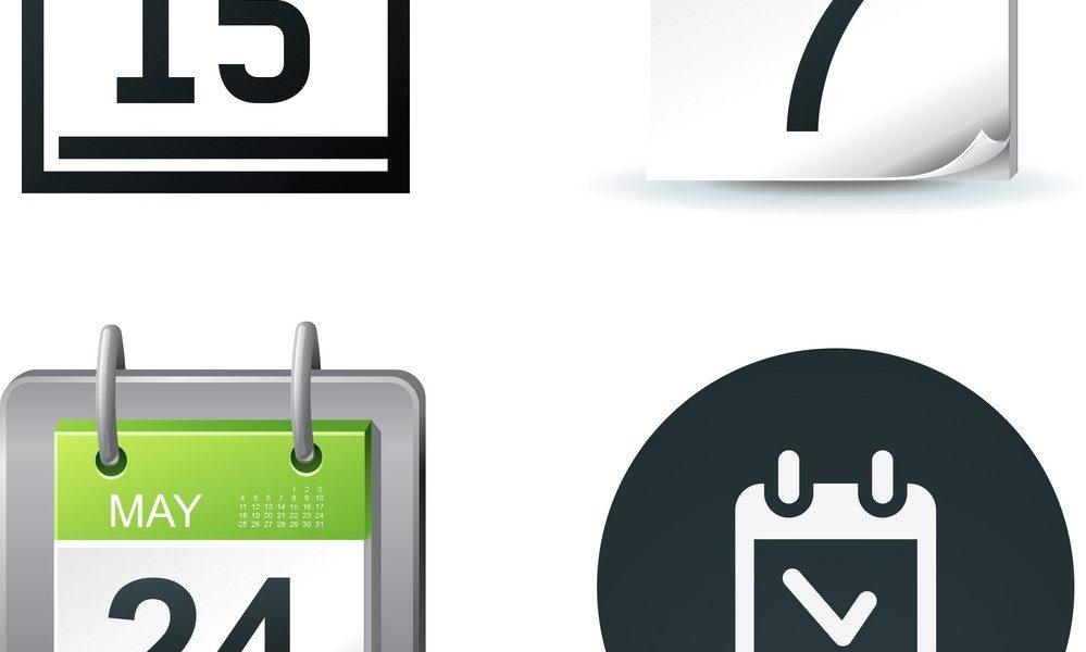 Calendar Icons_Calendar Icon Free Vector