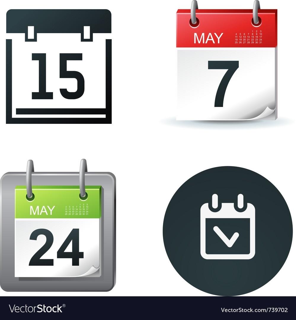 Calendar Icons_Free Calendar Icon Vector