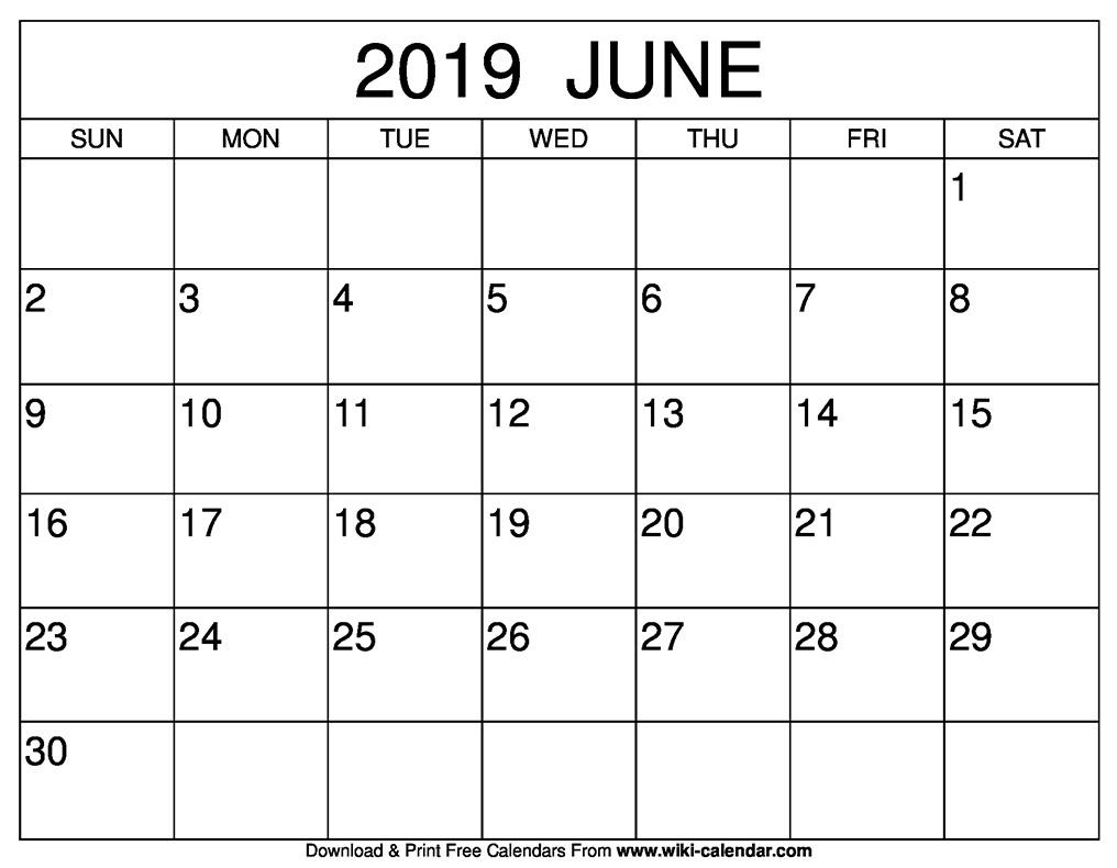 Calendar June 2019 Template Names » Creative Calendar Ideas_Printing Calendar In Javascript