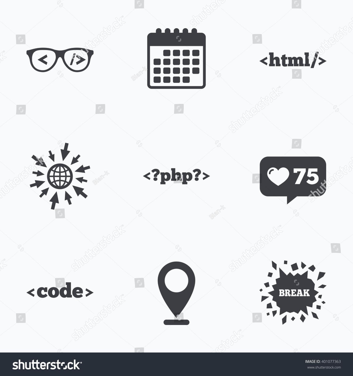 Calendar Like Counter Go Web Icons Stock Vector (Royalty Free) 401077363_Calendar Icon In Html