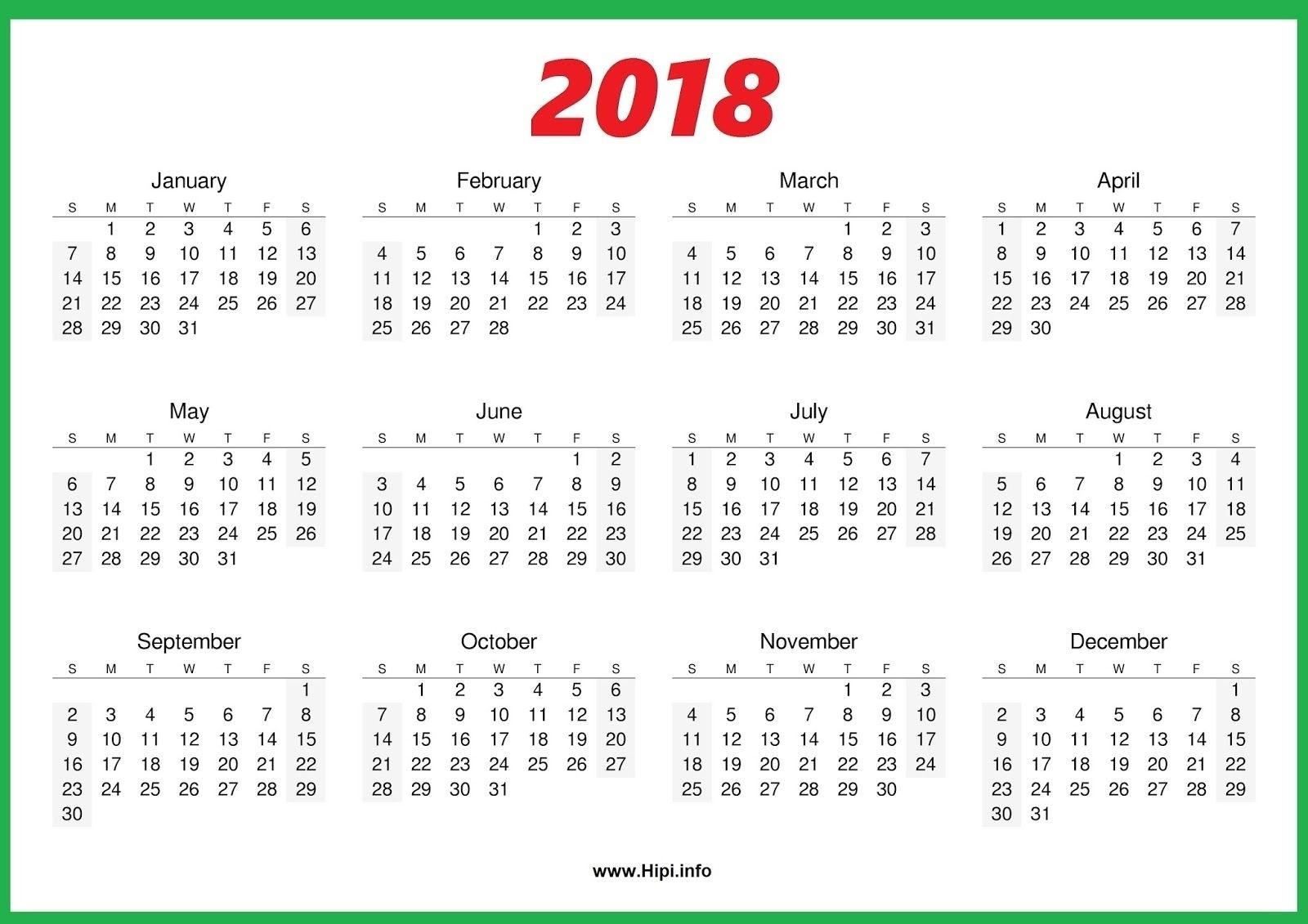 Calendar Printing One Page • Printable Blank Calendar Template_Calendar Printing One Page
