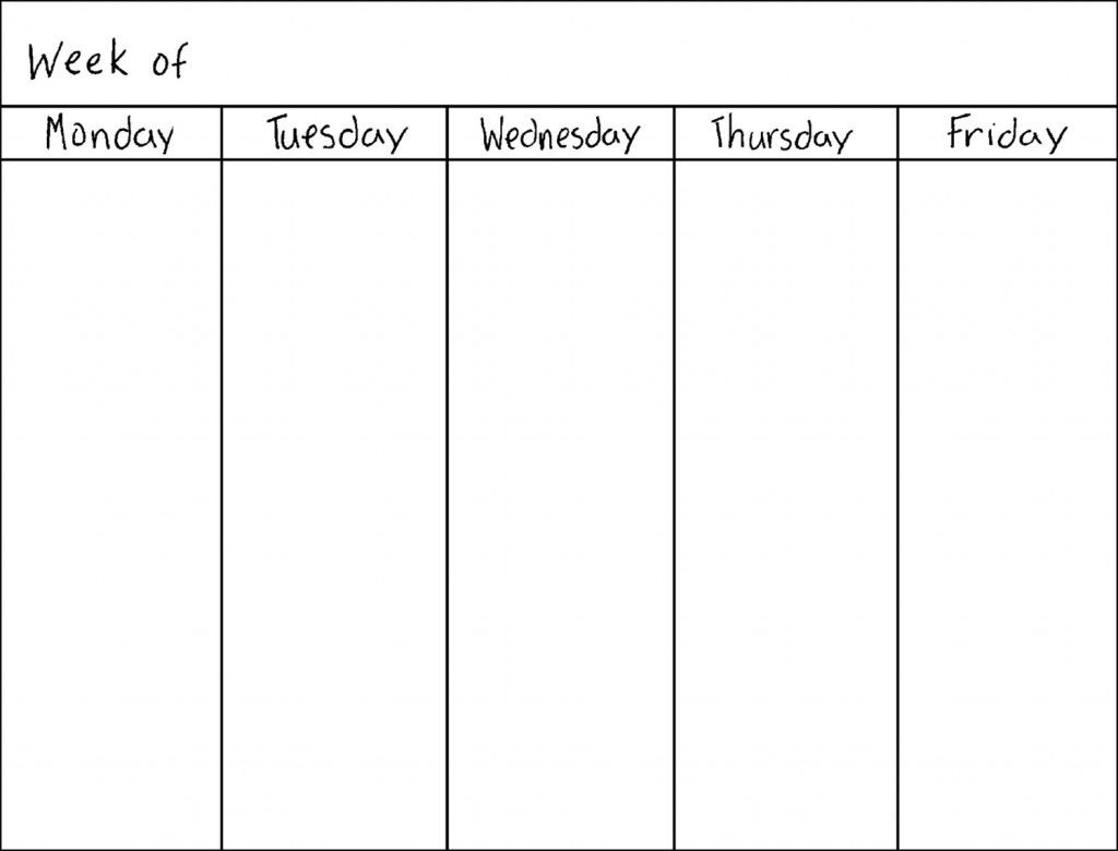 Calendar Template 5 Days - Google Search  </p>   </div>        <br>     <div class=