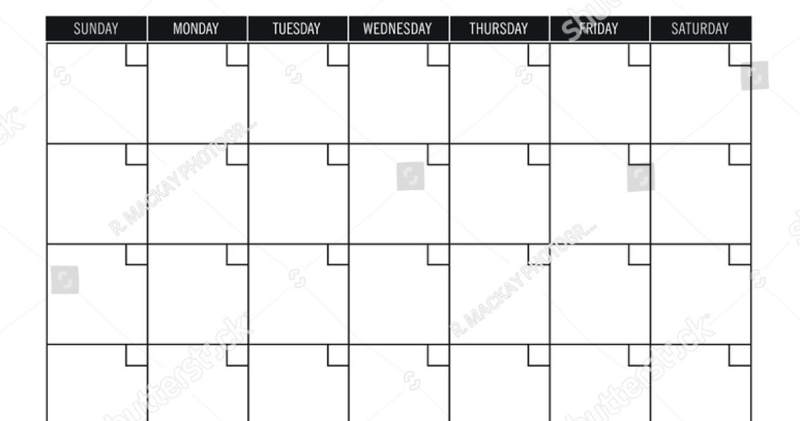 Calendar Template No Year • Printable Blank Calendar Template_Blank Calendar No Year