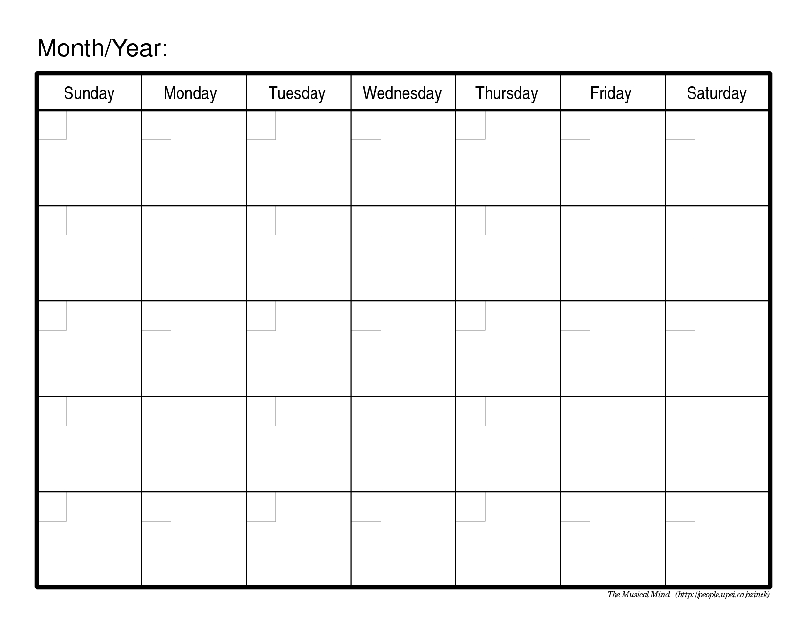 Calendar Templates Printable Free Fieldstation.co | Self Discovery_Monthly Calendar Template Blank