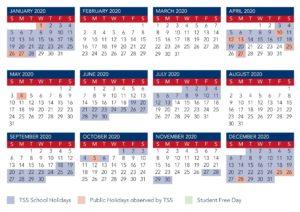 Calendar   The Southport School_School Calendar 2020 Qld