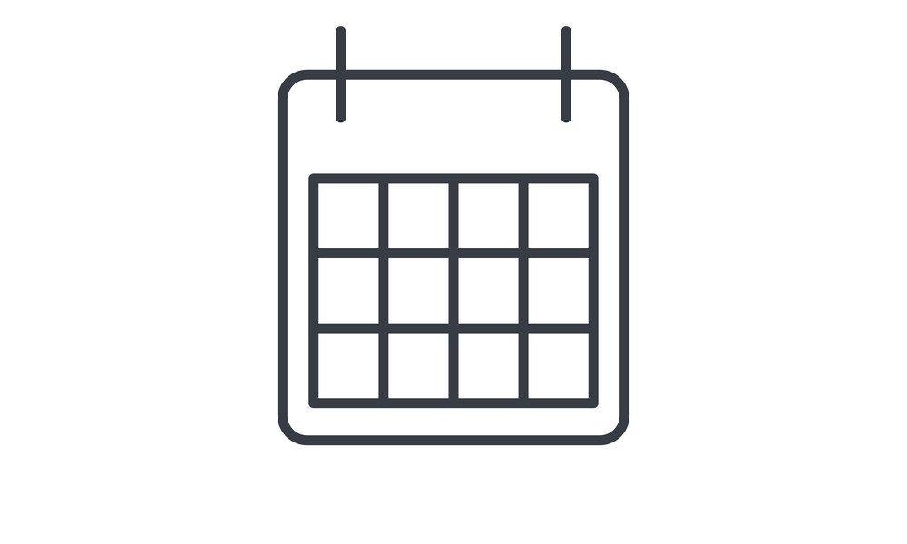 Calendar Thin Line Icon Linear Symbol_Calendar Icon Thin Line