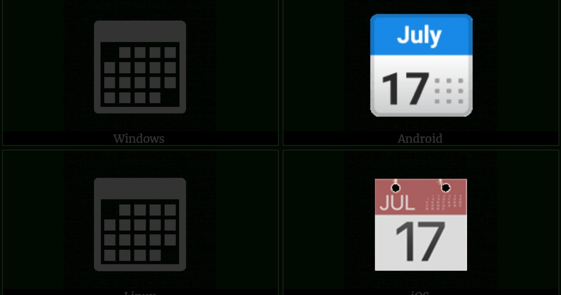 Calendar | Utf-8 Icons_Utf 8 Calendar Icon