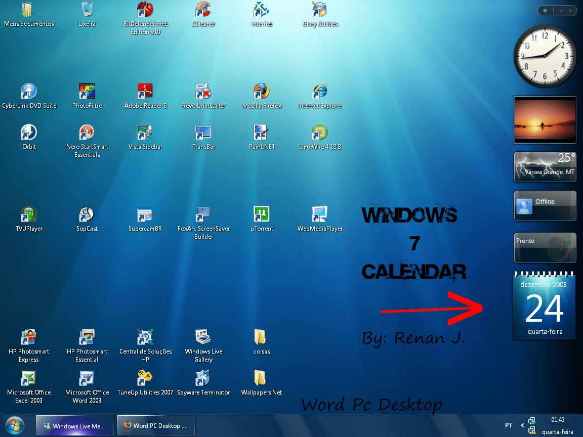 Calendar Widget For Windows 7 | Douglas Adventskalender 2012_Countdown Calendar Gadget Windows 7