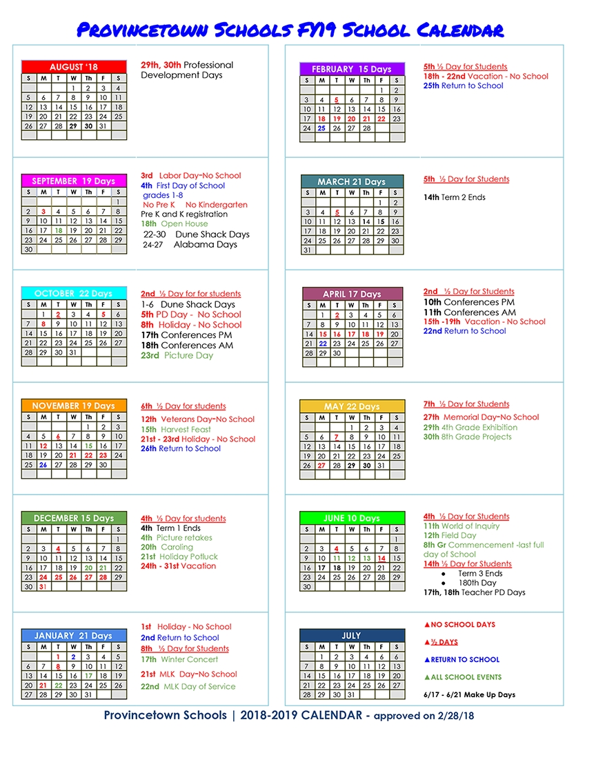 Calendar_Pre K School Calendar