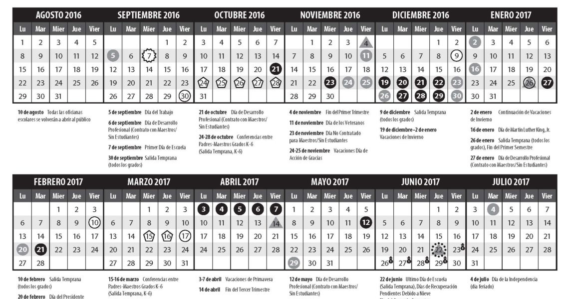 Calendars & Parent Handbook 16-17 - Edmonds School District_Calendar Edmonds School District