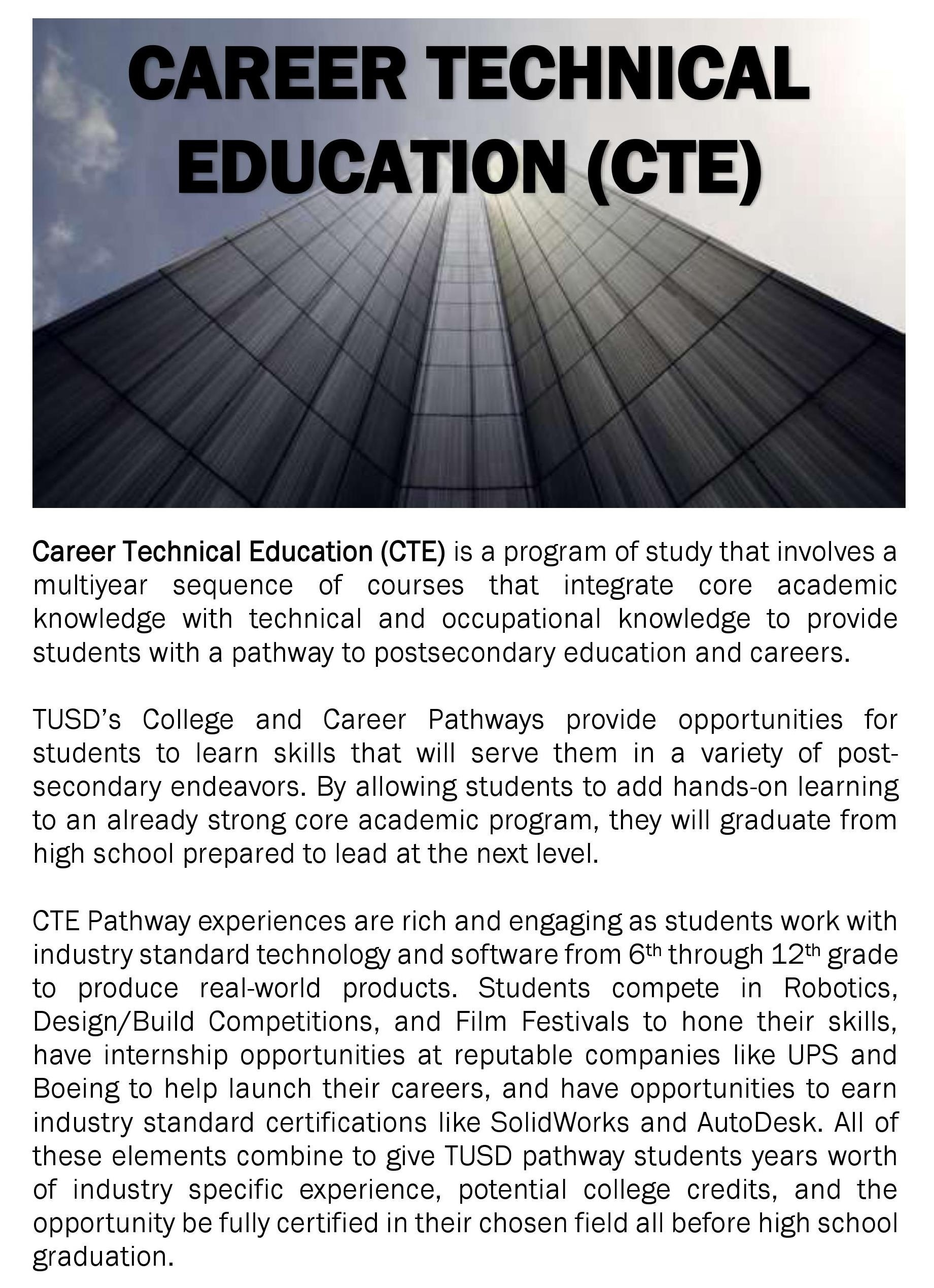 Career Technical Education (Cte) - Tustin Unified School District_School Calendar Tustin Unified