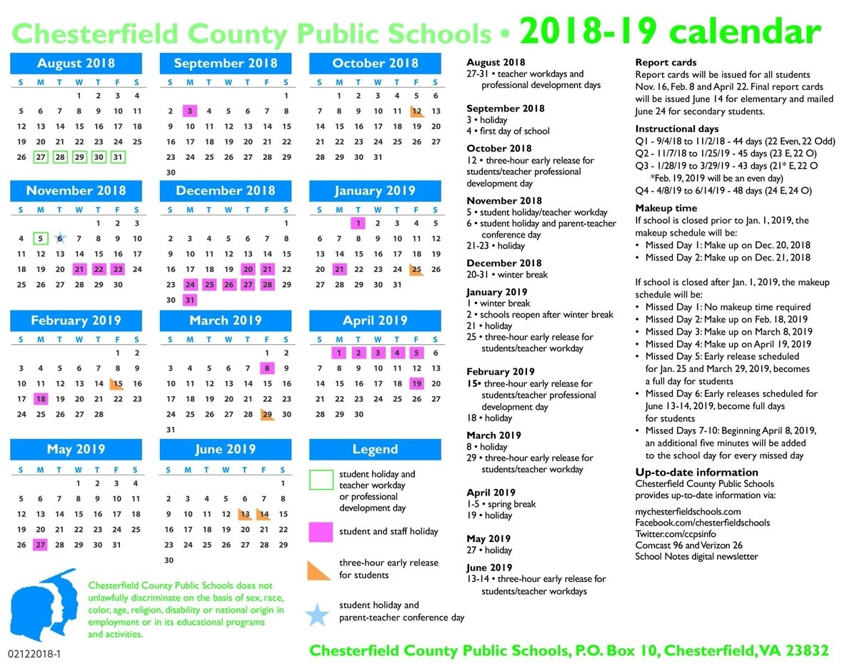 "Chesterfield Schools On Twitter: ""the Chesterfield County School_School Calendar Chesterfield County"