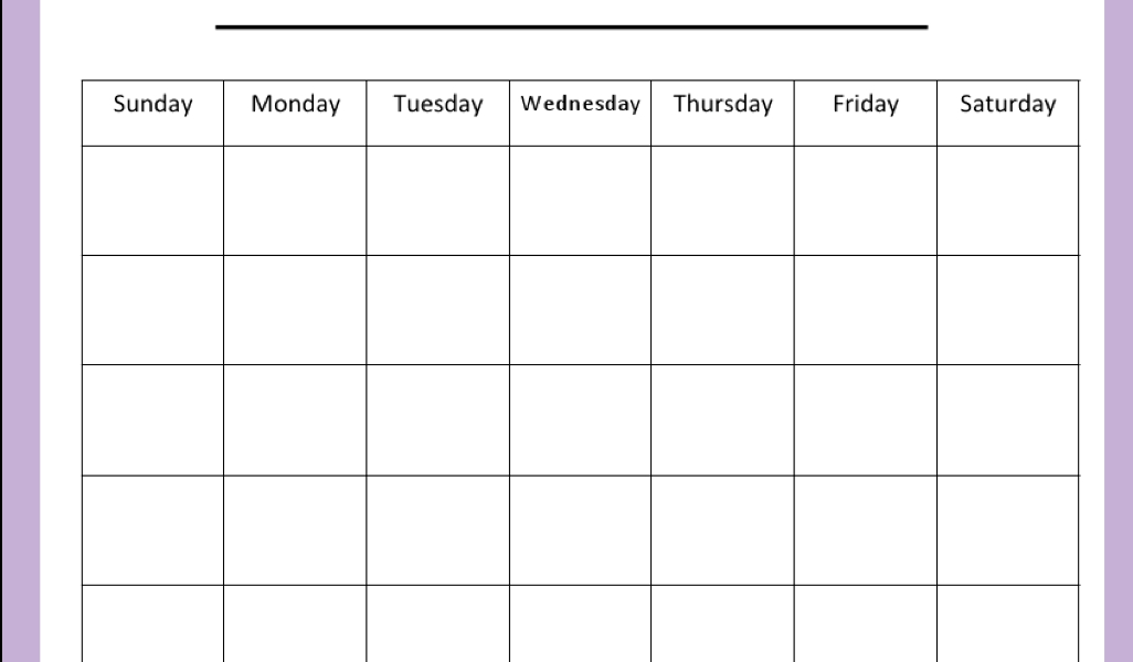 Classroom Schedule | Miss Reif's Classroom Page_Blank Calendar For Classroom Use