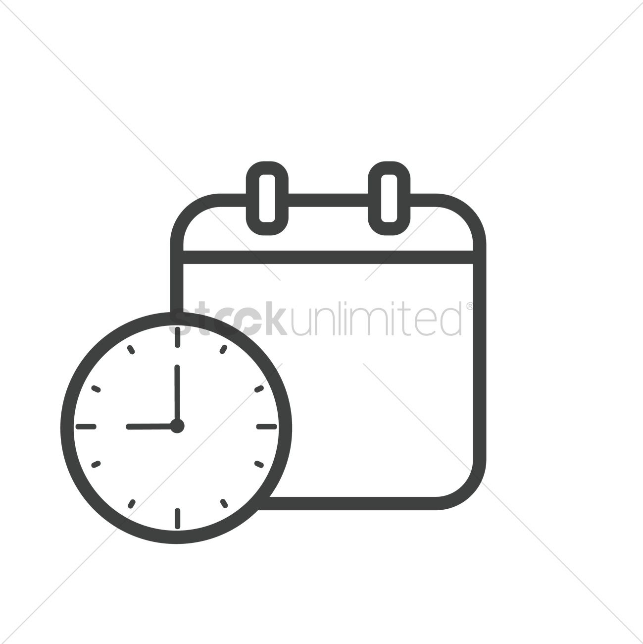 Clock And Calendar Icon Vector Image - 1998555  </p>   </div>        <br>     <div class=