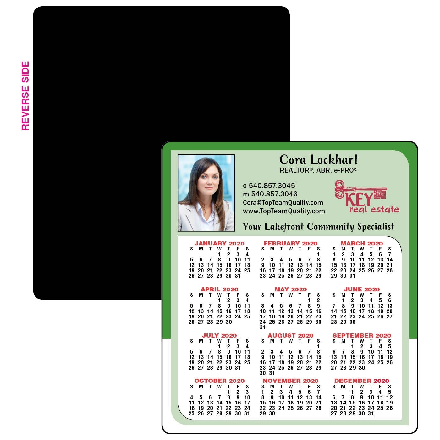 Company Colors Year-At-A-Glance Calendar Magnet_Calendar Printing Companies In Usa