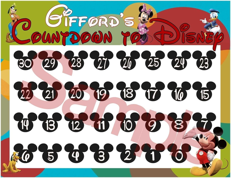 Countdown Calendar To Disney Vacation • Printable Blank Calendar_Countdown Calendar To Disney Vacation