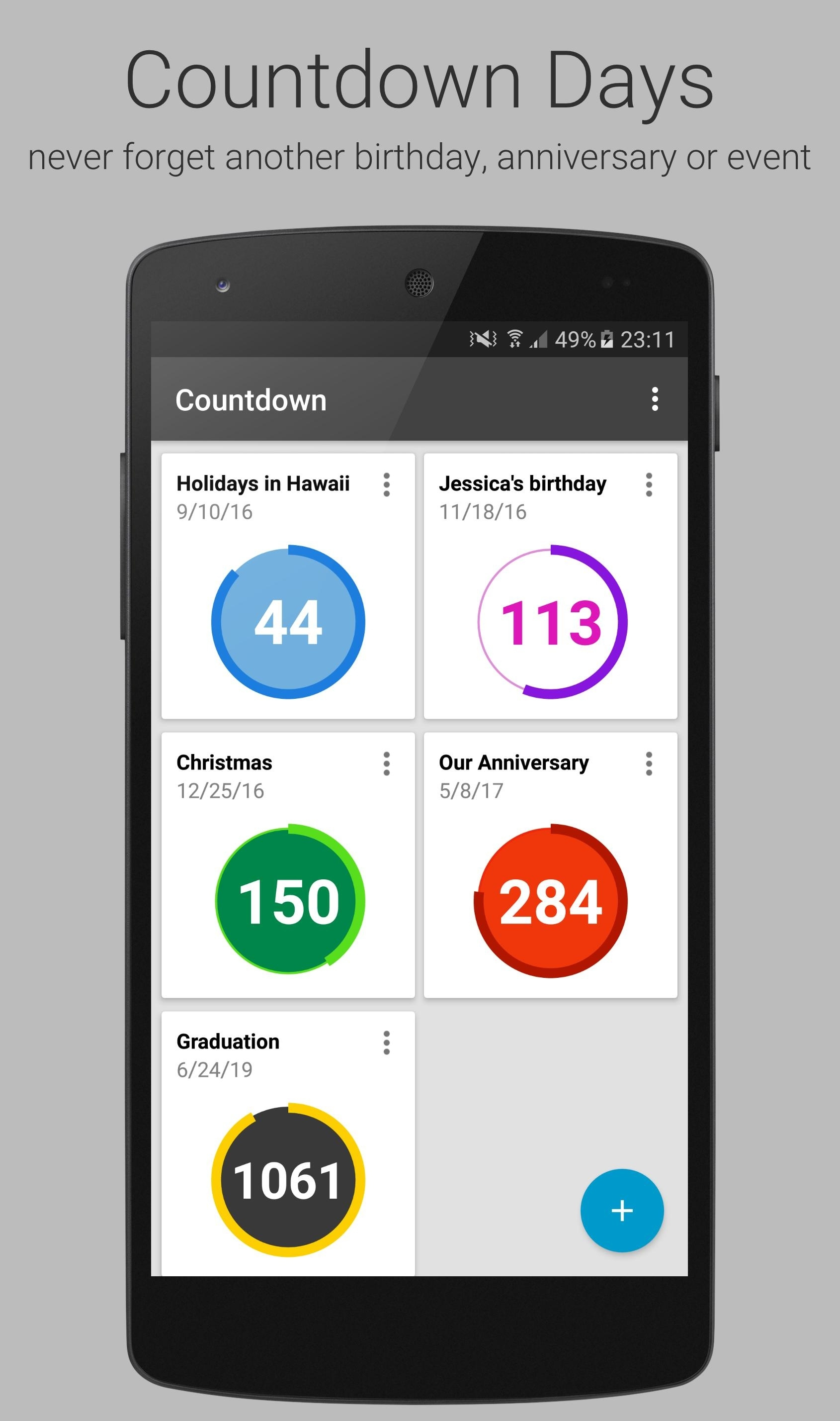 Countdown Days - App & Widget For Android - Apk Download_Countdown Calendar Widget Android
