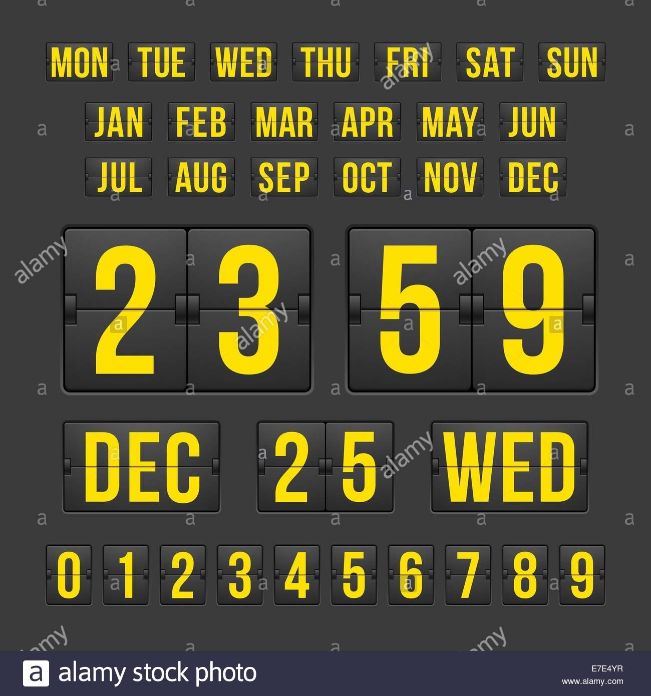 Countdown Timer And Date, Calendar Scoreboard Stock Photo: 73455307_1 Year Countdown Calendar