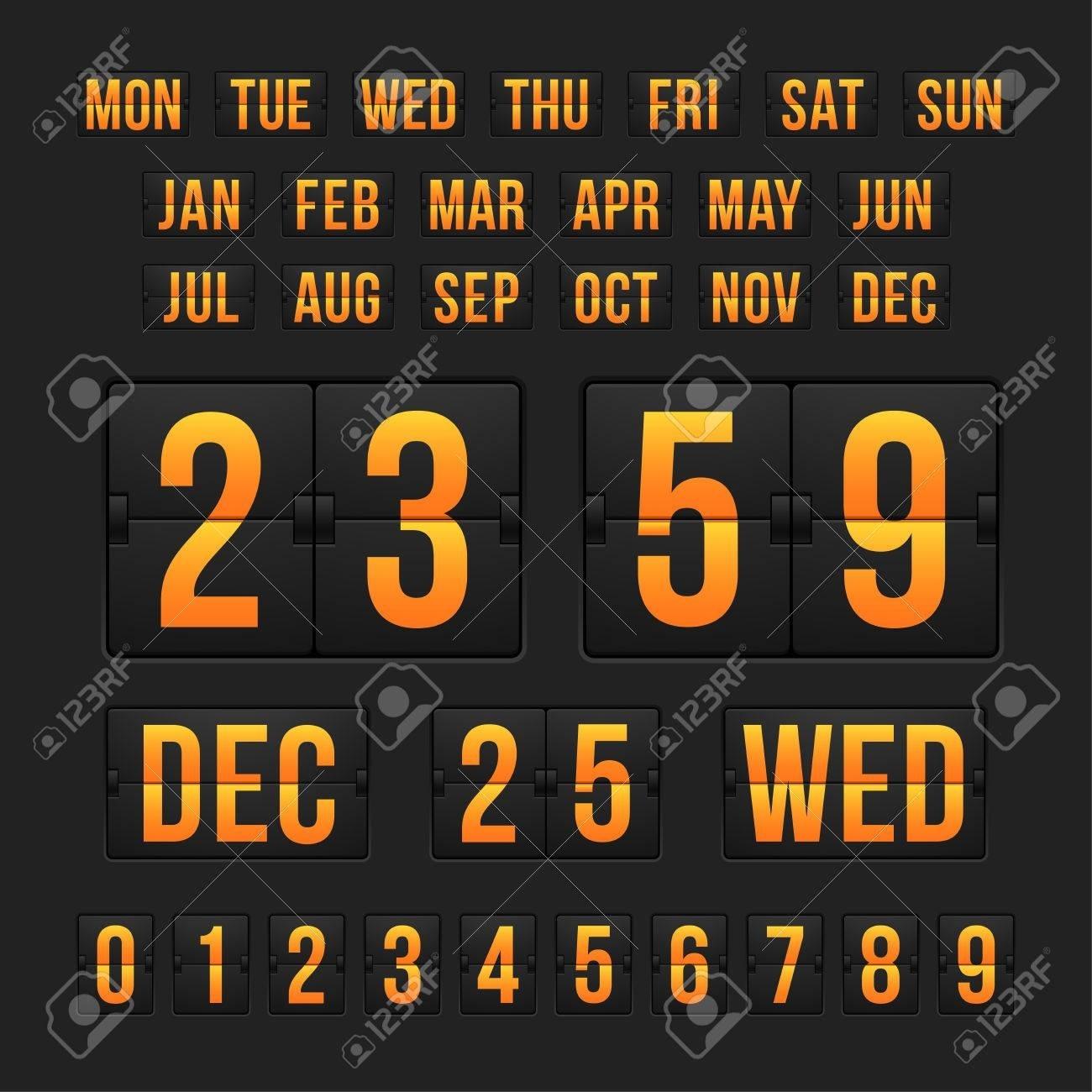 Countdown Timer And Date, Calendar Scoreboard_Calendar Countdown Between Dates