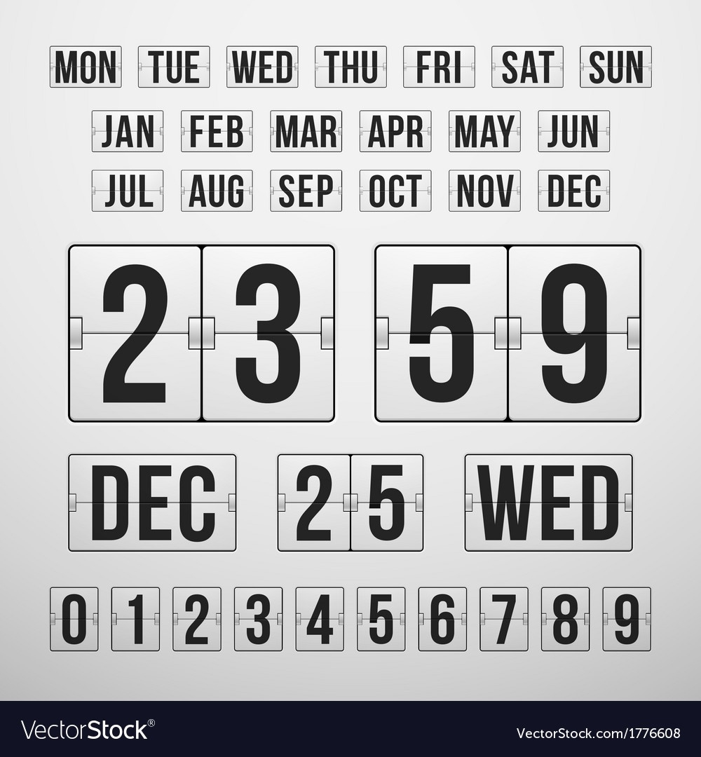 Countdown Timer And Date Calendar Scoreboard_Countdown Calendar With Picture