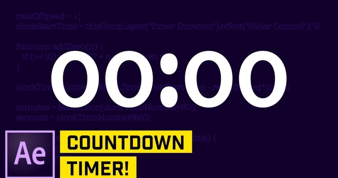 Countdown Timer With Expressions After Effects Cc Tutorial_Calendar Countdown After Effects