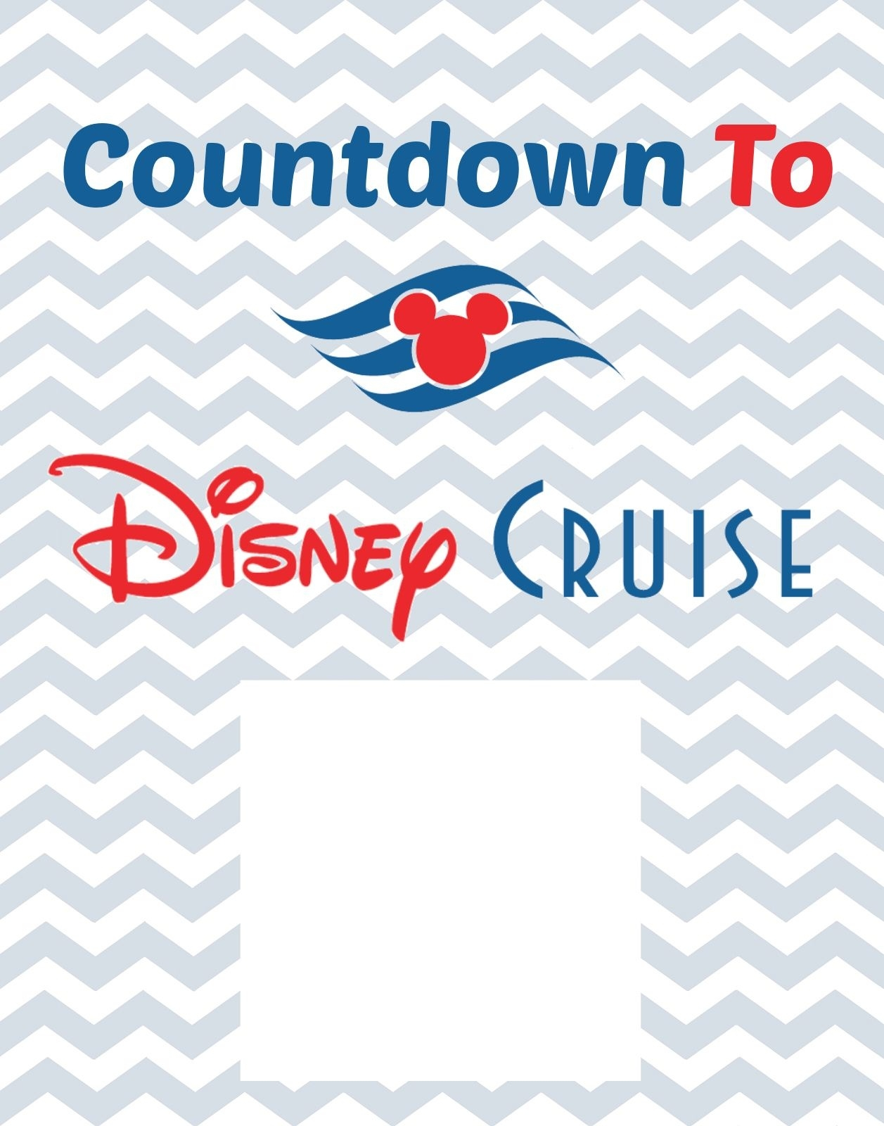 Countdown To Disney Cruise Free Printable | Disney Cruise | Disney_Countdown Calendar For Cruise
