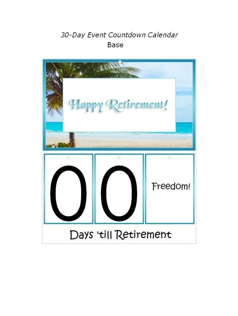 Countdown To Retirement Calendar Printable | Isacl_Calendar Countdown For Retirement