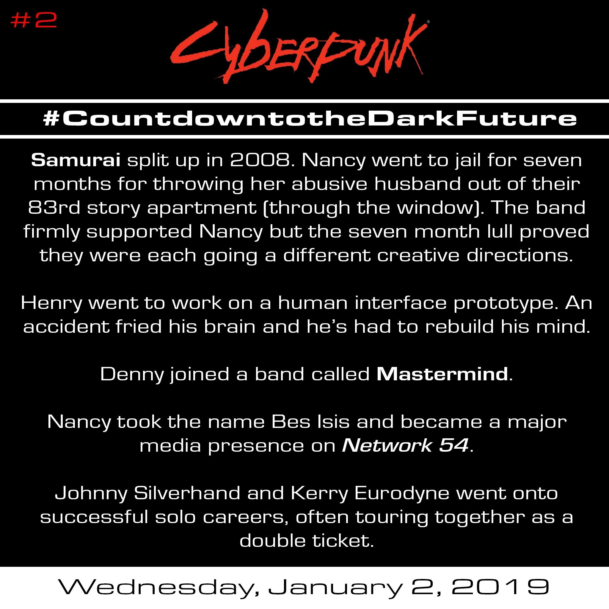 Countdown To The Dark Future (365 Days Of Cyberpunk 2020 Facts) #2_Countdown Calendar 365 Days