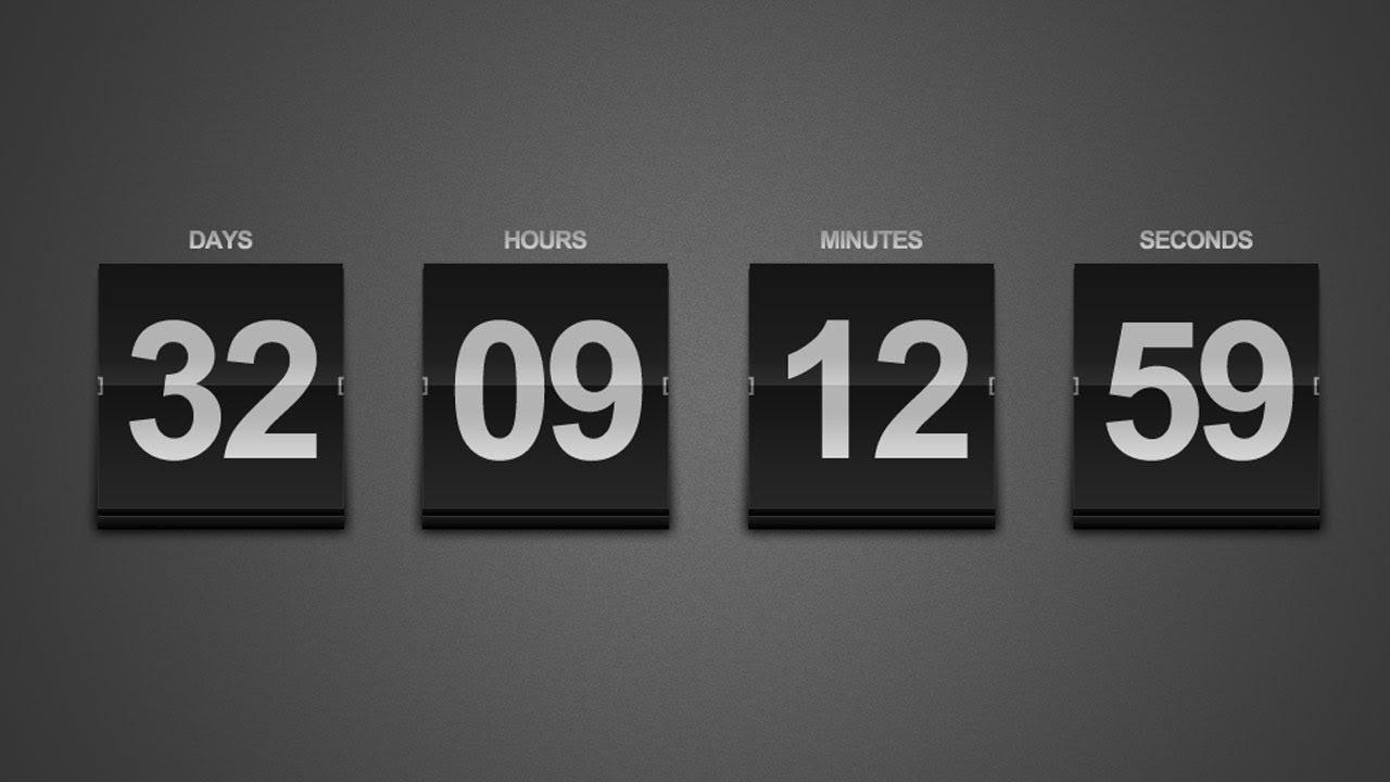 Create A Sleek Countdown Timer -- Photoshop Tutorial_Calendar Countdown Tv Show